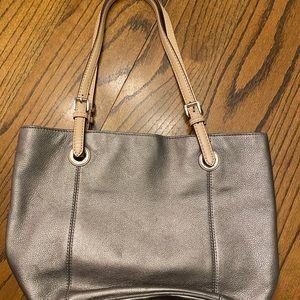 Silver Michael Kors Should Bag